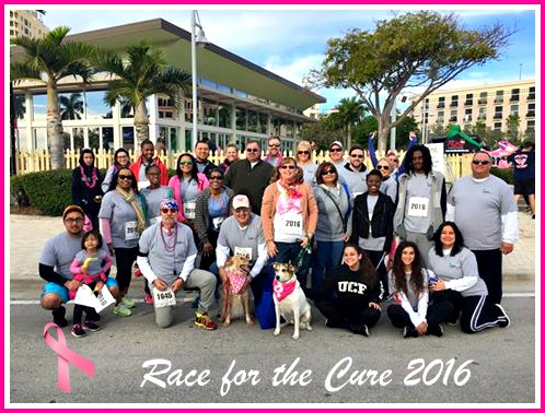 SUSAN G.KOMEN RACE FOR THE CURE - WEST PALM BEACH