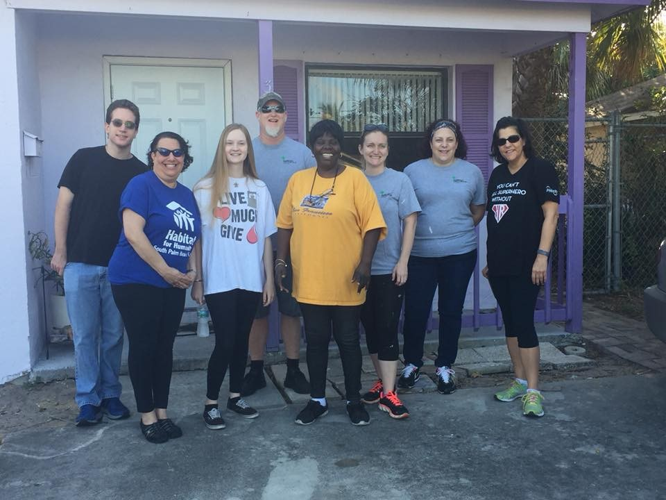 HABITAT FOR HUMANITY OF SOUTH PALM BEACH:  HABITAT BUILD DAY